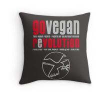 GO VEGAN REVOLUTION Throw Pillow