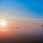 Windmill in the mist by Patrick Bongers