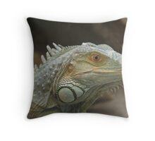 Iguana Portrait Throw Pillow