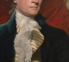 Portrait of President Thomas Jefferson by Mather Brown (1786) Sticker