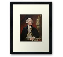 Portrait of President Thomas Jefferson by Mather Brown (1786) Framed Print