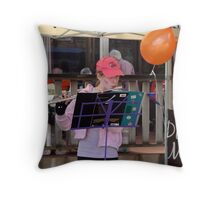 Flautist at the Queens Day celebration. Throw Pillow
