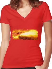 endless summer byron bay Women's Fitted V-Neck T-Shirt