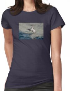 Pair of Gulls on Ice at Harbourfront, Toronto, Ontario Womens Fitted T-Shirt