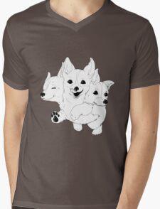 Corgerberus  Mens V-Neck T-Shirt