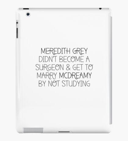 MG didn't become a surgeon.. iPad Case/Skin