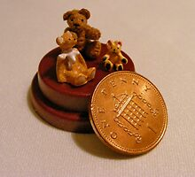Teddy Bears Smaller than a Penny by AnnDixon