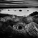 Cray pots Currie Harbour by Karen Scrimes