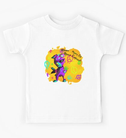 Vibrant Mystery Pup Peace Explosion - Tshirt madness week 1 Kids Tee