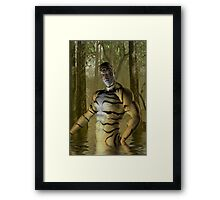 Tiger Warrior Framed Print