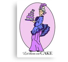 Let them Eat Cake Purple Canvas Print
