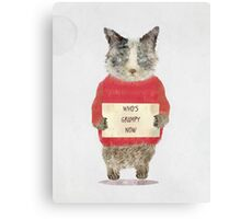 who's grumpy Canvas Print