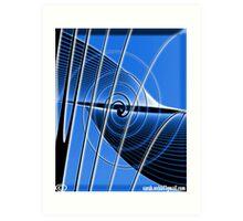 Blue String. Art Print