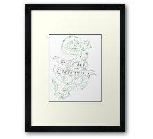 tunnel snakes v2 Framed Print