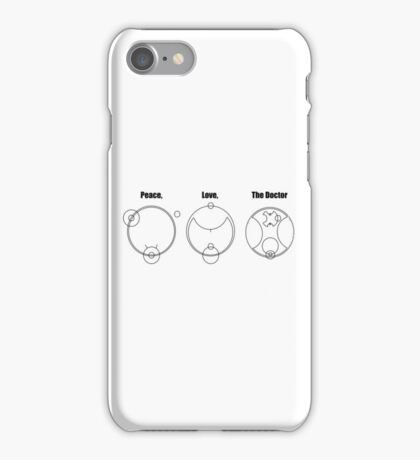 Peace, Love, The Doctor iPhone Case/Skin