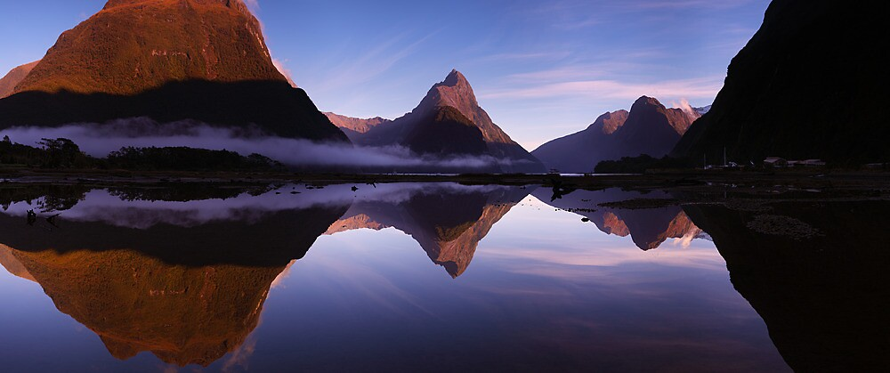 Milford Reflections Panorama by Mark Shean