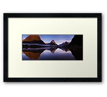 Milford Reflections Panorama Framed Print
