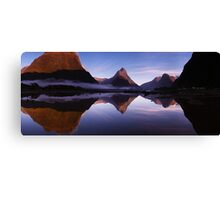 Milford Reflections Panorama Canvas Print