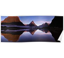 Milford Reflections Panorama Poster