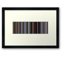 Moviebarcode: Up (2009) [Simplified Colors] Framed Print
