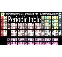 Elements, Periodic table, Chemistry, Science, Physics, Chemical Elements, Atomic Number Photographic Print