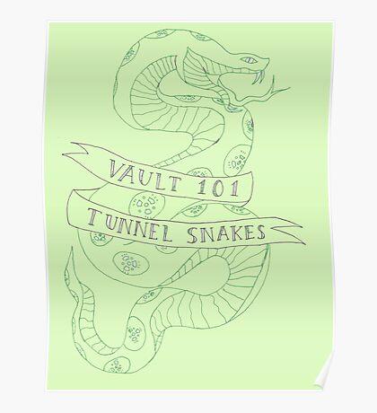 tunnel snakes [back of shirt variant] Poster