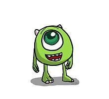 Mike Wazowski - Monsters inc sketch by MASSAMOO