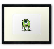 Mike Wazowski - Monsters inc sketch Framed Print