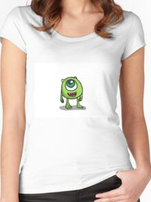 Mike Wazowski - Monsters inc sketch Women's Fitted Scoop T-Shirt