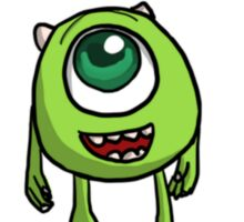 Mike Wazowski - Monsters inc sketch Sticker