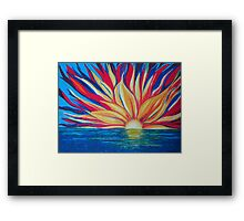Sunrise starburst Framed Print
