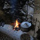 a cosy night in by the fire by ragman
