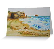 Cove in San Juan De Los Terreros, Andalucia, Spain Greeting Card