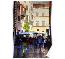 Street Scene in Rome Poster