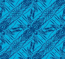 Hawaii Plant Series - Blue by William Braddock