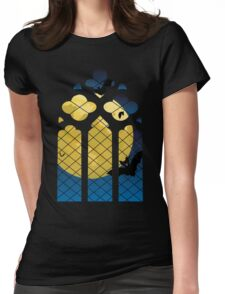 Gothic Window and Moon Womens Fitted T-Shirt