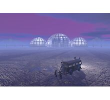 Mineral exploration on an Alien Planet Photographic Print