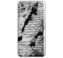 Decayed Words iPhone Case/Skin