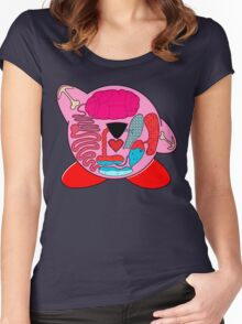 Pink on the inside Women's Fitted Scoop T-Shirt