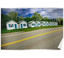 Cabins on the road to Gaspé Poster