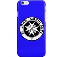 TARDIS St. John's Ambulance Logo (available as leggings!) iPhone Case/Skin
