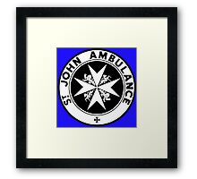 TARDIS St. John's Ambulance Logo (available as leggings!) Framed Print