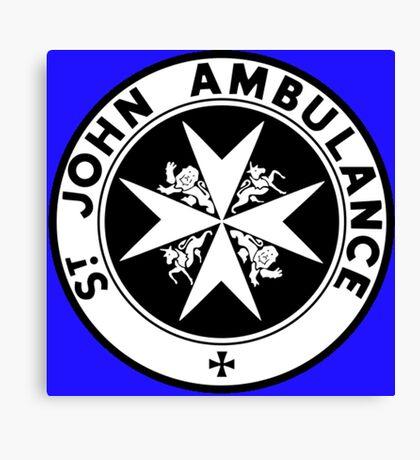 TARDIS St. John's Ambulance Logo (available as leggings!) Canvas Print