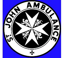TARDIS St. John's Ambulance Logo (available as leggings!) Photographic Print