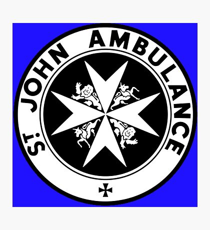 TARDIS St. John's Ambulance Logo (available as leggings!) Photographic Print