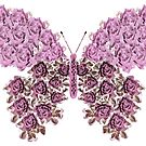 Pink Flowered Butterfly by CarolM