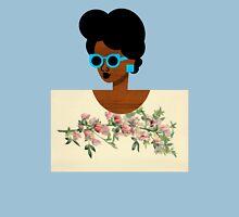 Postcard Art Blue Womens Fitted T-Shirt