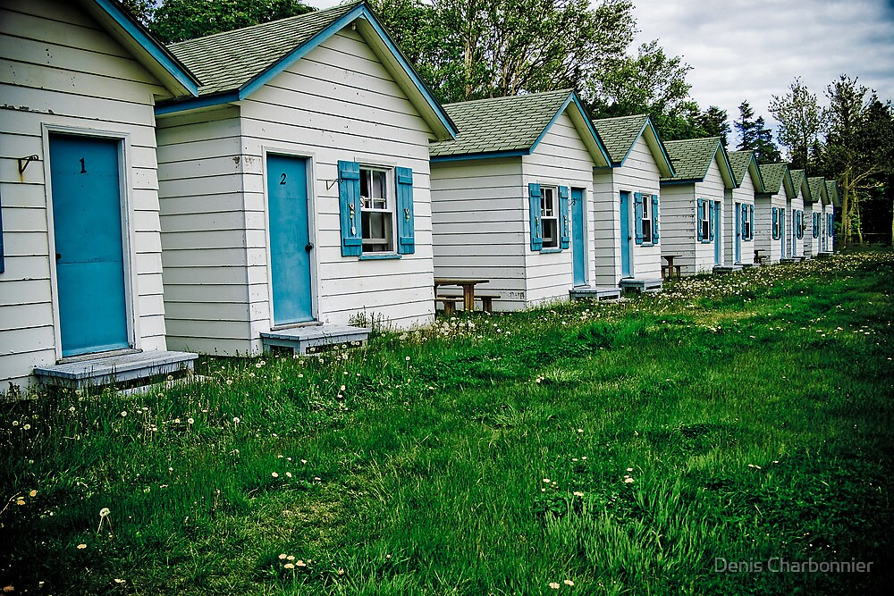 Cabins on the road to Gaspé by Denis Charbonnier