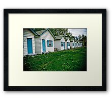 Cabins on the road to Gaspé Framed Print