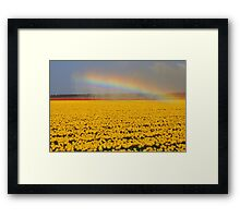 Rainbow & Tulips Framed Print